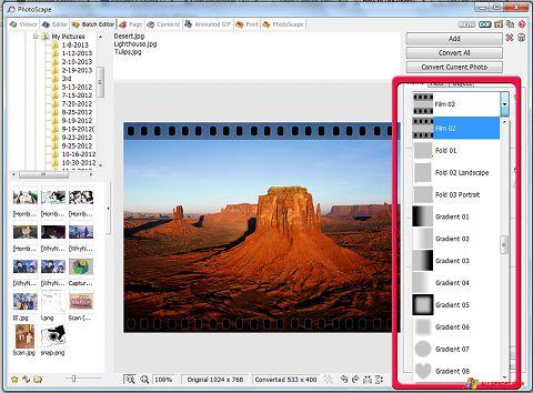 スクリーンショット PhotoScape Windows XP版
