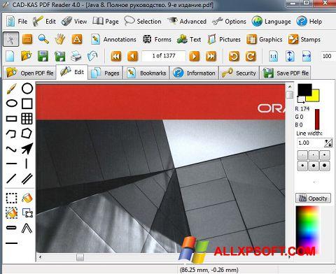 スクリーンショット PDF Reader Windows XP版