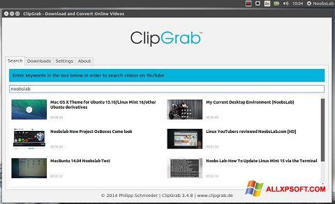 スクリーンショット ClipGrab Windows XP版