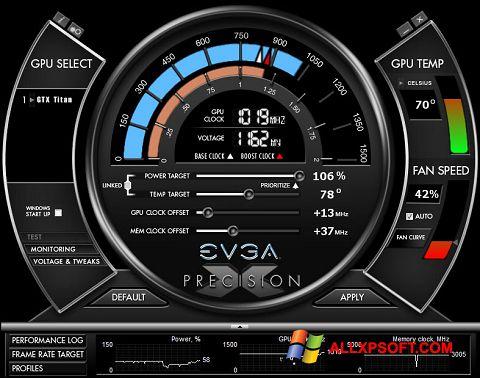 スクリーンショット EVGA Precision X Windows XP版