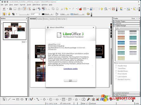 スクリーンショット LibreOffice Windows XP版