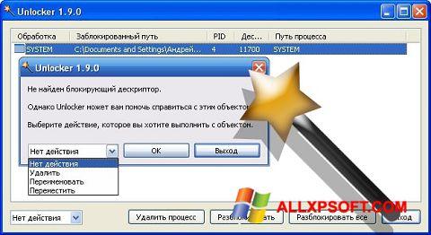 スクリーンショット Unlocker Windows XP版