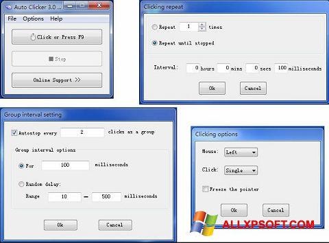 スクリーンショット GS Auto Clicker Windows XP版