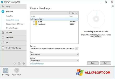 スクリーンショット DAEMON Tools Lite Windows XP版
