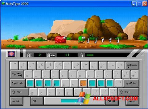 スクリーンショット BabyType Windows XP版