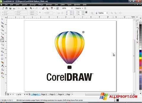 スクリーンショット CorelDRAW Windows XP版
