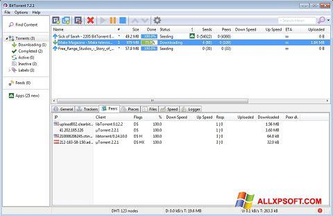 スクリーンショット BitTorrent Windows XP版