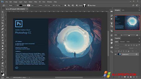 スクリーンショット Adobe Photoshop Windows XP版