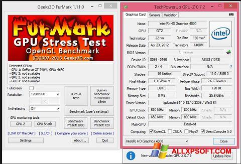 スクリーンショット FurMark Windows XP版