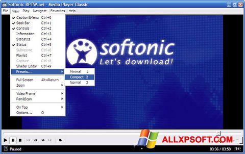 スクリーンショット Media Player Classic Windows XP版