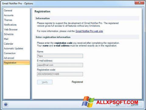 スクリーンショット Gmail Notifier Windows XP版
