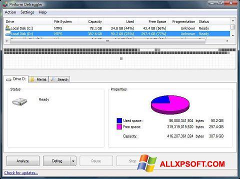 スクリーンショット Defraggler Windows XP版