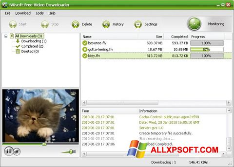 スクリーンショット Free Video Catcher Windows XP版