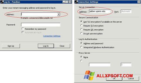 スクリーンショット Pandion Windows XP版