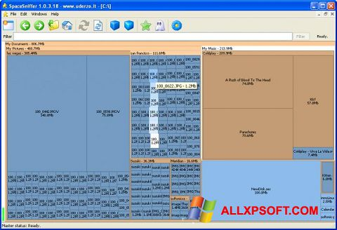 スクリーンショット SpaceSniffer Windows XP版