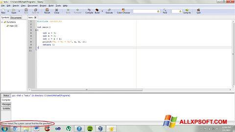 スクリーンショット Geany Windows XP版