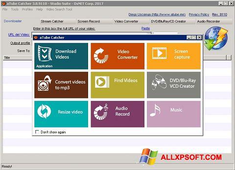 スクリーンショット aTube Catcher Windows XP版