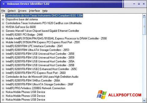 スクリーンショット Unknown Device Identifier Windows XP版