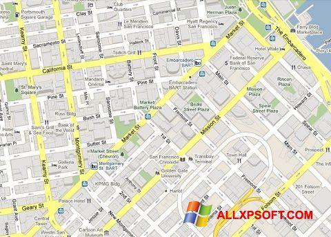 スクリーンショット Google Maps Windows XP版