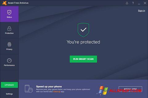 スクリーンショット Avast Free Antivirus Windows XP版