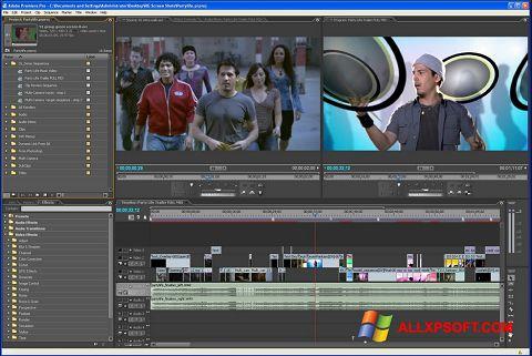 スクリーンショット Adobe Premiere Pro Windows XP版