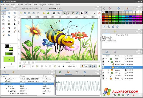 スクリーンショット Synfig Studio Windows XP版