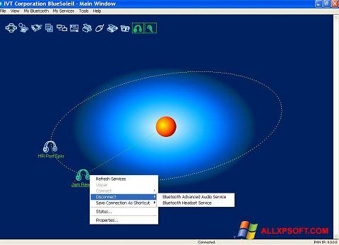 スクリーンショット BlueSoleil Windows XP版