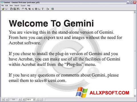 スクリーンショット Gemini Windows XP版
