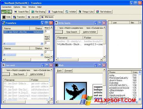 スクリーンショット Soulseek Windows XP版