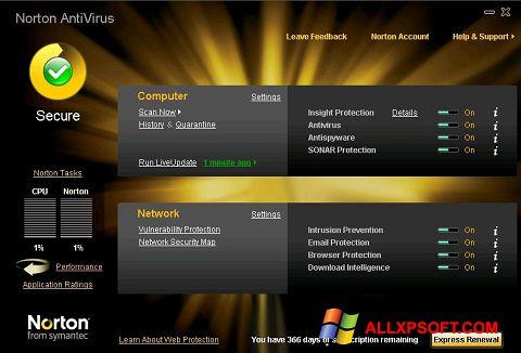 スクリーンショット Norton AntiVirus Windows XP版