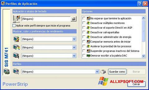 スクリーンショット PowerStrip Windows XP版