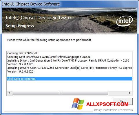 スクリーンショット Intel Chipset Device Software Windows XP版