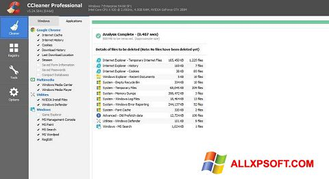 スクリーンショット CCleaner Professional Plus Windows XP版