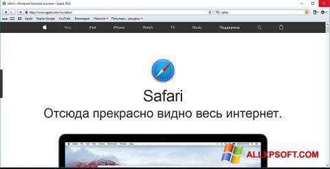 スクリーンショット Safari Windows XP版