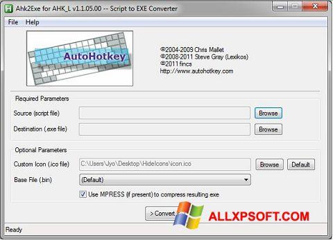スクリーンショット AutoHotkey Windows XP版