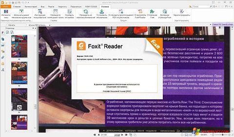 スクリーンショット Foxit Reader Windows XP版