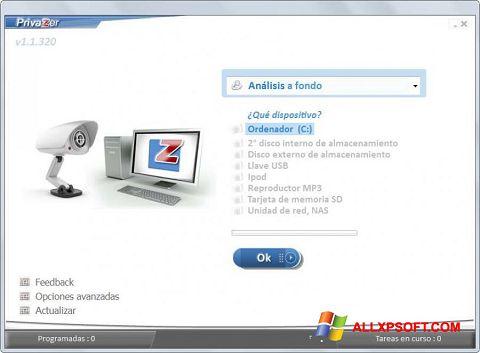 スクリーンショット PrivaZer Windows XP版