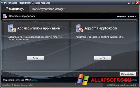 スクリーンショット BlackBerry Desktop Manager Windows XP版