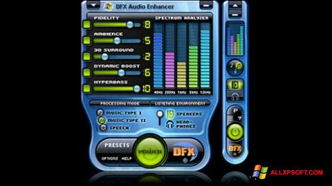 スクリーンショット DFX Audio Enhancer Windows XP版