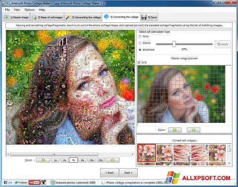 スクリーンショット Photo Collage Windows XP版