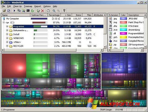スクリーンショット WinDirStat Windows XP版