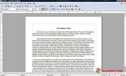 スクリーンショット OpenOffice Windows XP版