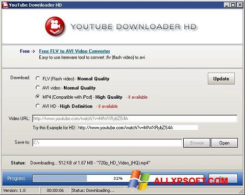 スクリーンショット Youtube Downloader HD Windows XP版